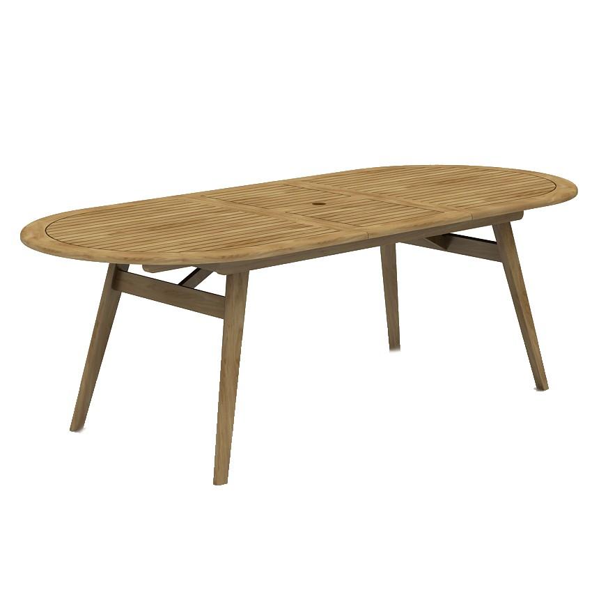 Set masa extensibila TDT4026-OV, cu 6 scaune pliante, din lemn, pentru gradina