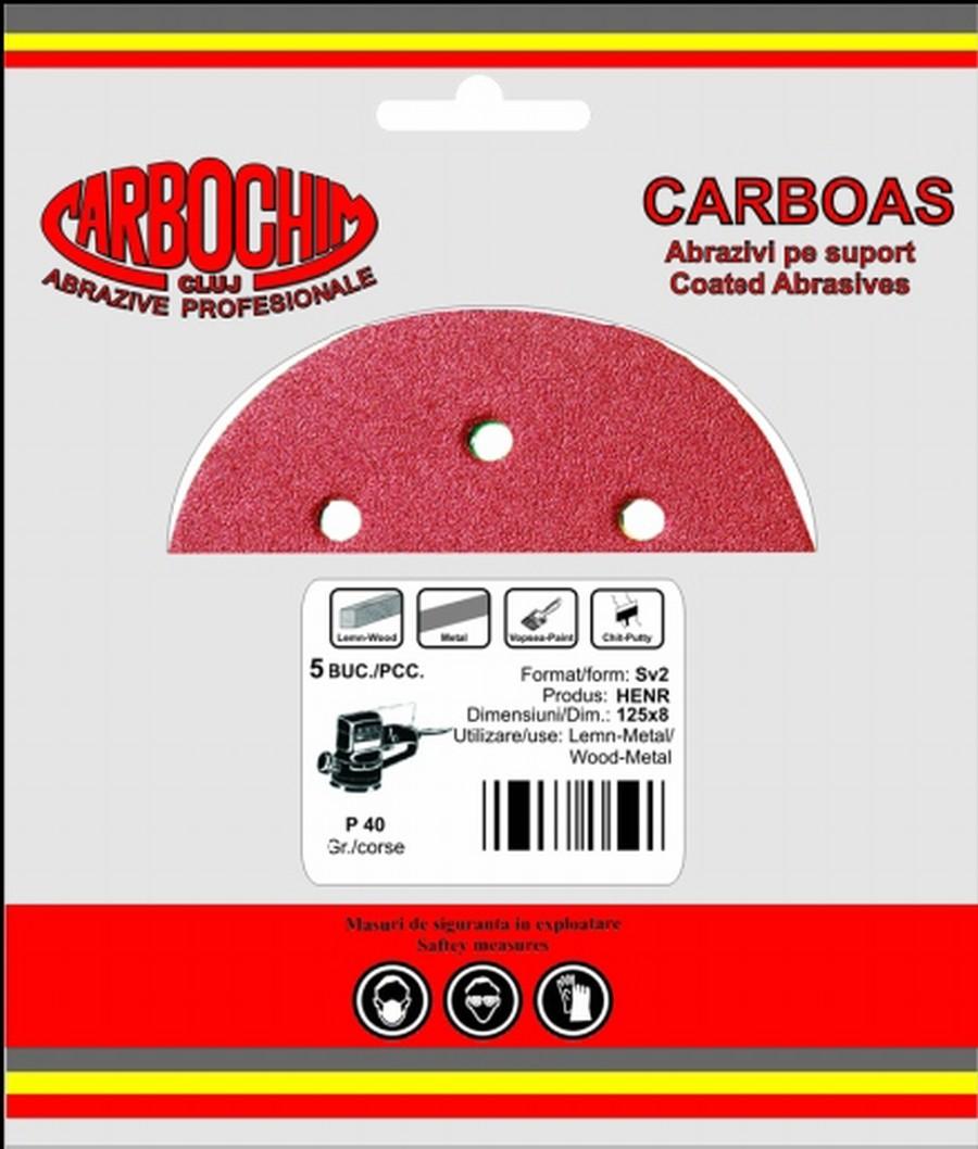 Disc adraziv cu dimensiuni 125x22 mm granulatie 240