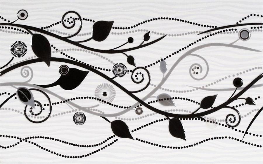 Decor faianta baie / bucatarie Wendy 17931 lucios negru 25 x 40 cm