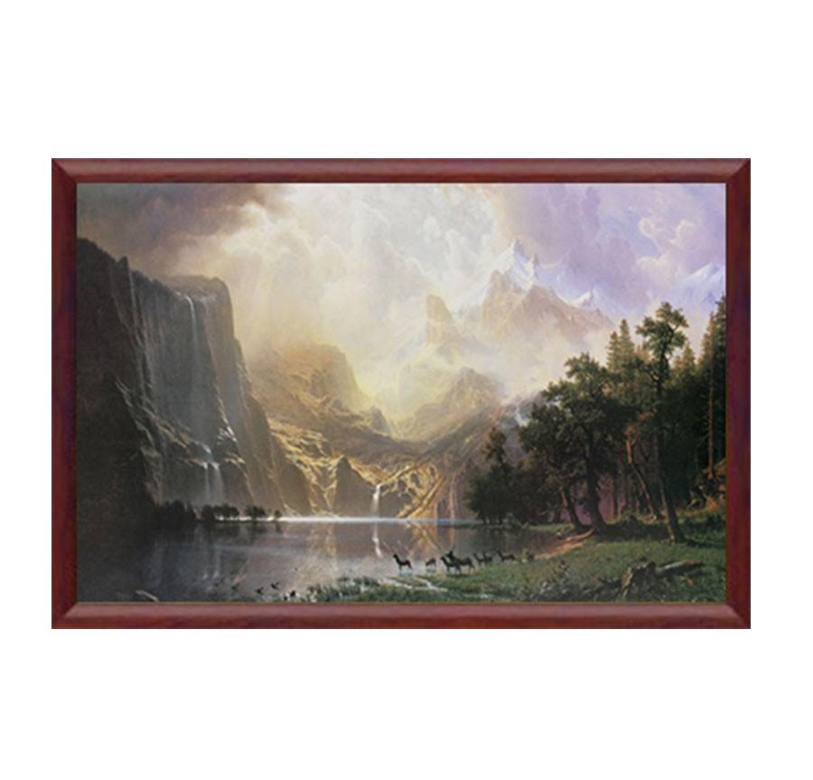 Tablou TI01754, inramat, panza canvas + rama MDF, stil natura, 50 x 70 cm