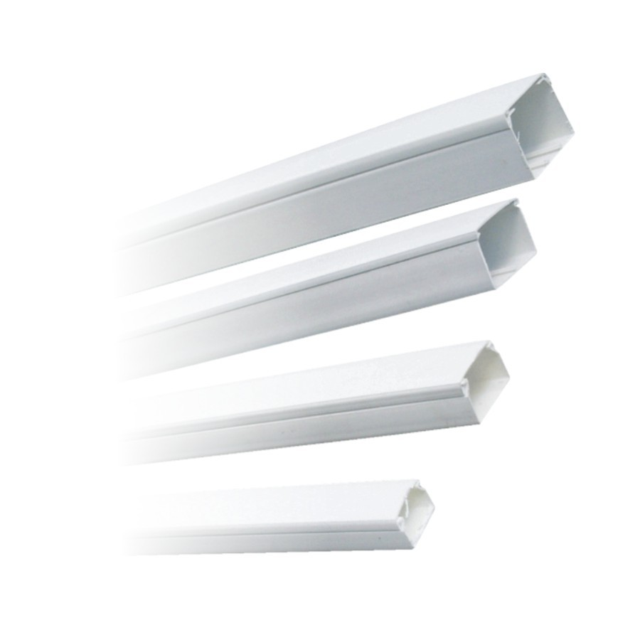 Canal cablu (jgheab) 25 x 25 mm, cu capac, alb