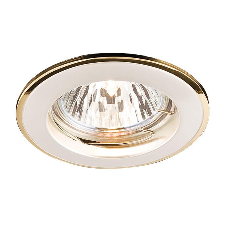 Spot incastrat ELC 146 70012, GU5.3, perla aur / argint