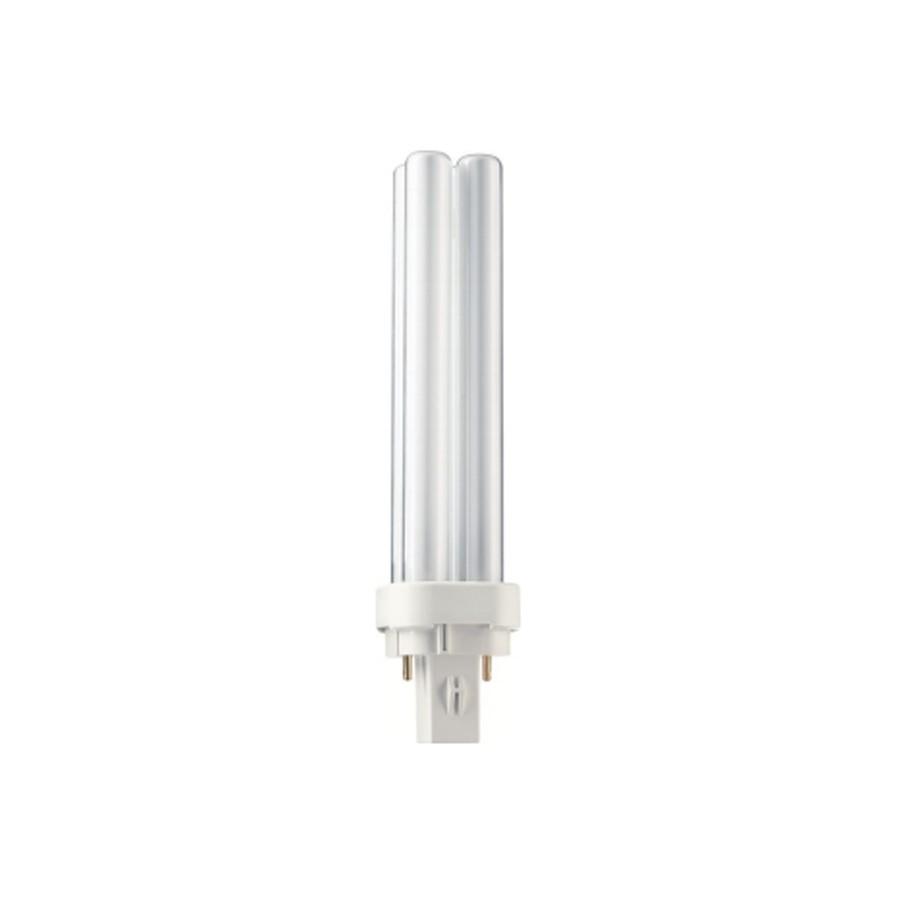 Bec economic G24D-2 Philips Master PL-C 2P 18W lumina calda