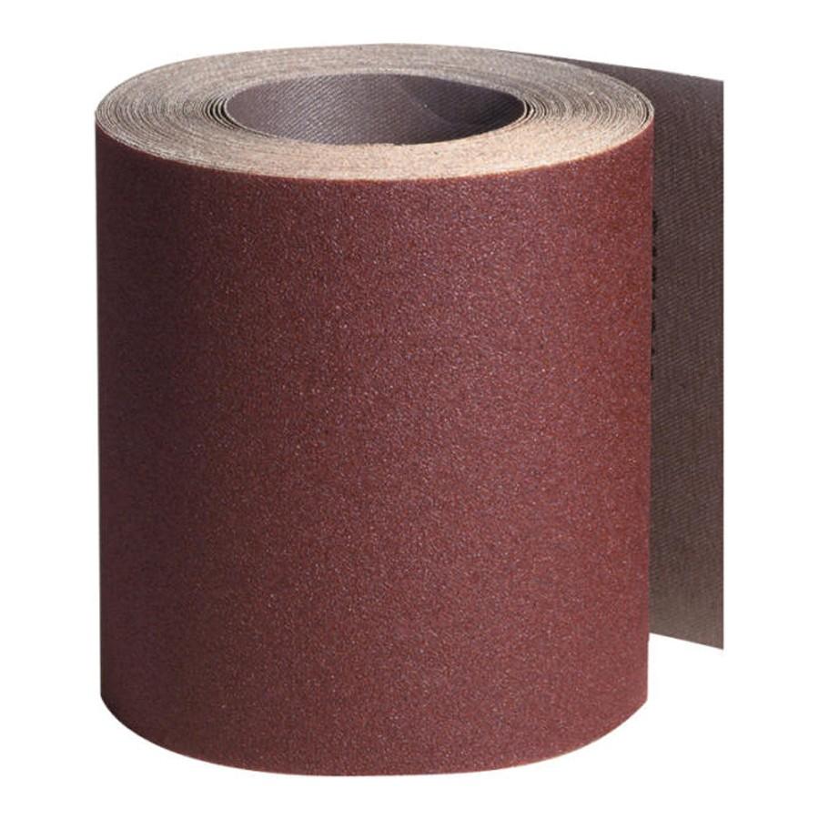 Rola panza abraziva pentru lemn, metale, constructii, Klingspor KL 382 J, granulatie 80, rola 50 m x 100 mm