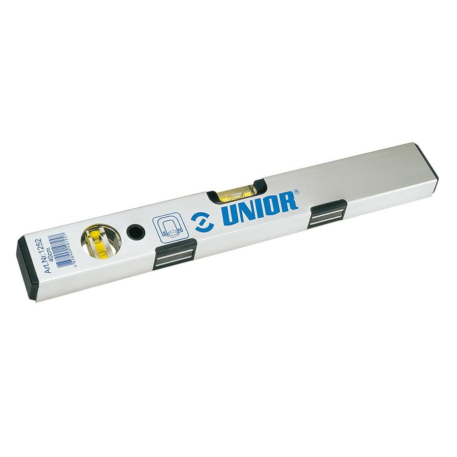 Nivela cu bula, magnetica, Unior 1252, cu 2 indicatori, din aluminiu, 600 mm