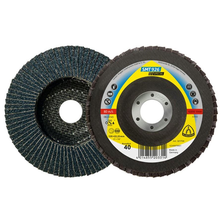 Disc lamelar frontal pentru otel, inox Klingspor SMT 926 321707 GR 60 125x22.23 mm