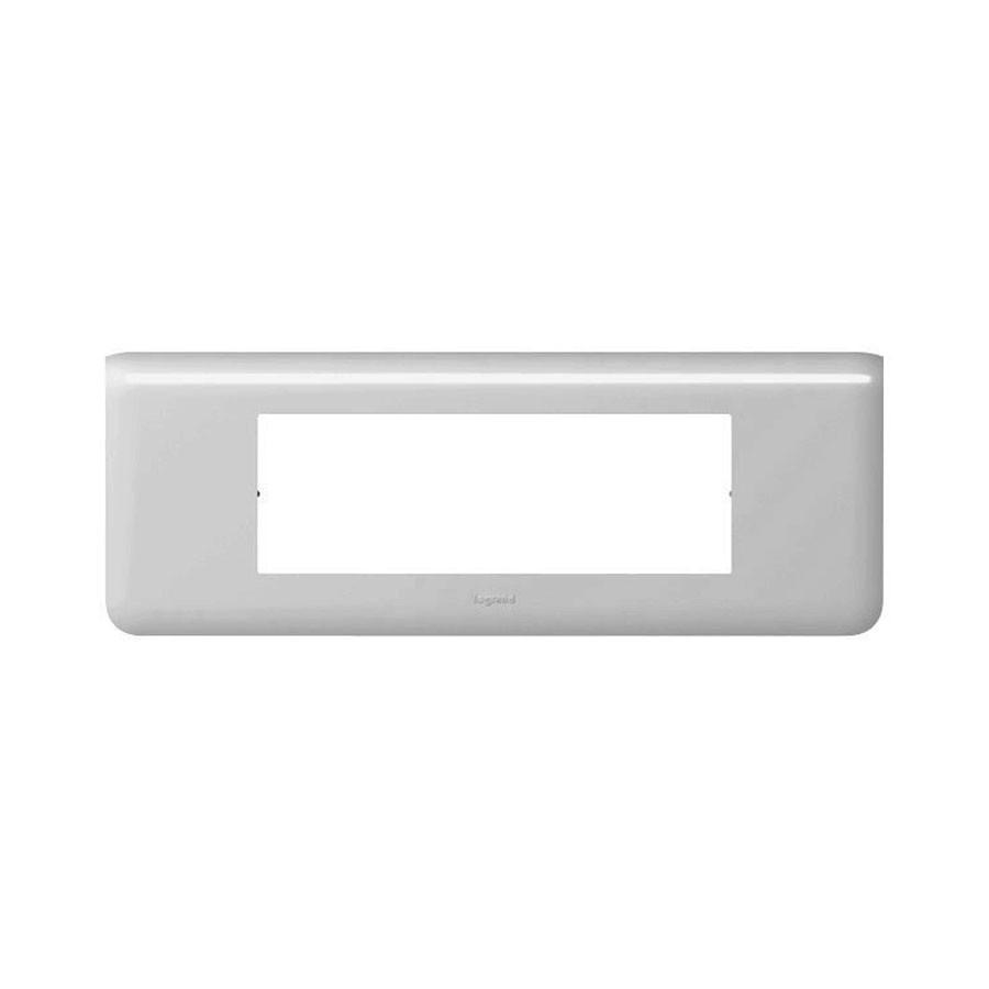 Rama orizontala Legrand Mosaic 079016, 6 module, aluminiu