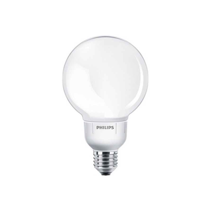 Bec economic E27 Philips Softone Esaver Globe G93 12W lumina calda