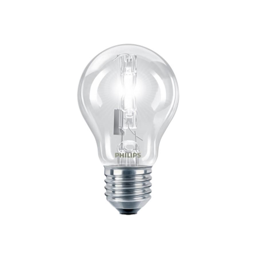 Bec halogen E27 Philips EcoClassic30 standard A55 230V 140W lumina calda