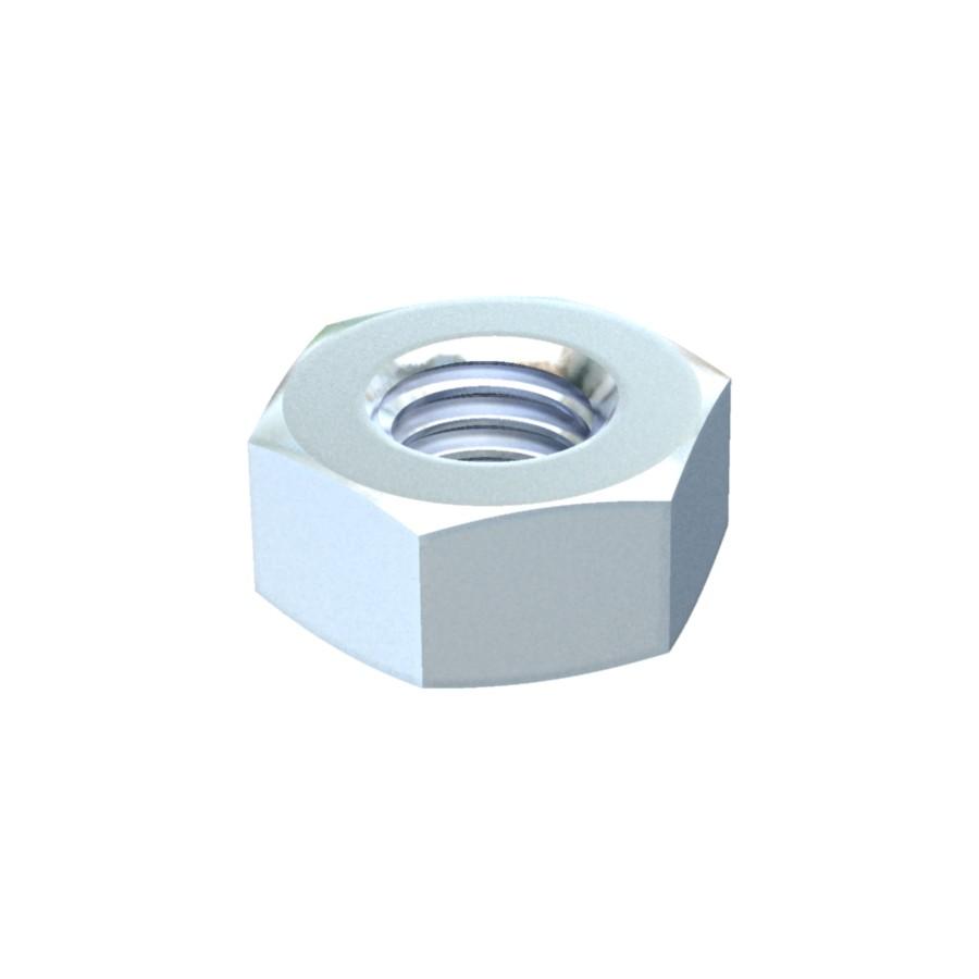 Piulita hexagonala galvanizata 3400107, otel, M10