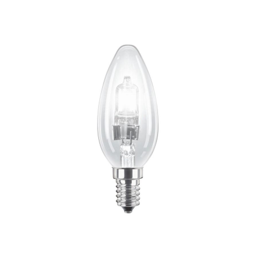 Bec halogen E14 Philips EcoClassic30 lumanare B35 230V 18W lumina calda