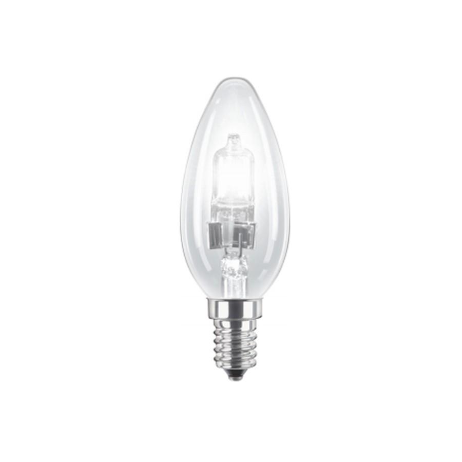 Bec halogen E14 Philips EcoClassic30 lumanare B35 230V 42W lumina calda