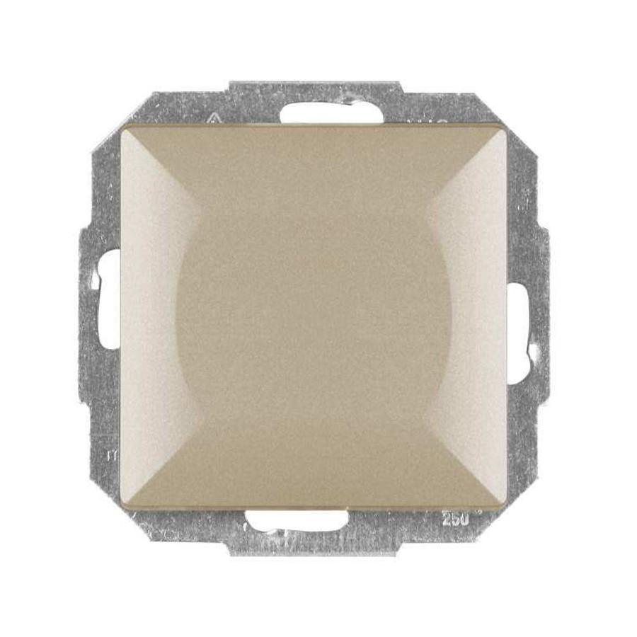 Intrerupator simplu cu indicator luminos Abex Perla WP-1P/S SA, incastrat, satin
