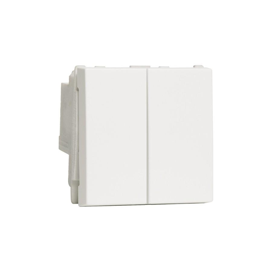 Intrerupator dublu OBO LFS 6117615, alb
