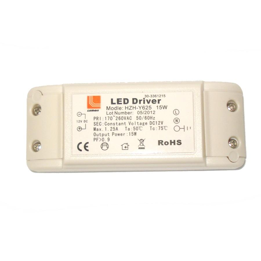 Transformator de tensiune pentru LED-uri 240 / 12V Adeleq Lumen 05-030/15, 15W