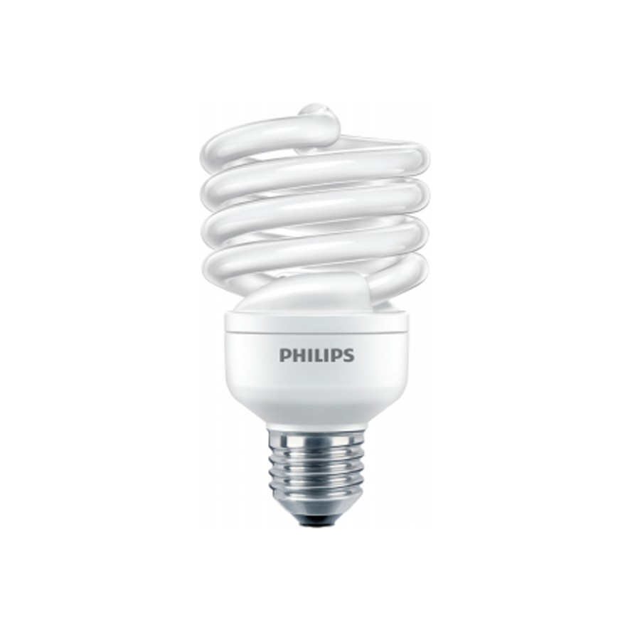 Bec economic E27 Philips Economy Twister spiralat 23W lumina rece