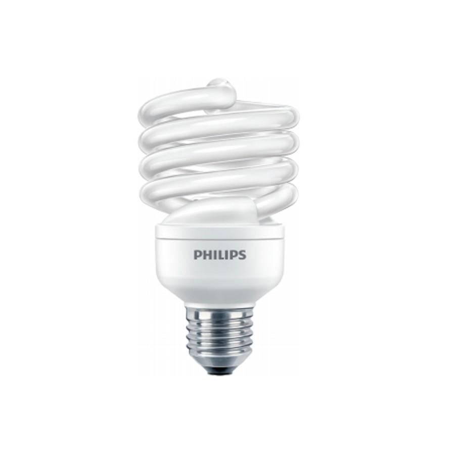 Bec economic E27 Philips Economy Twister spiralat 23W lumina calda