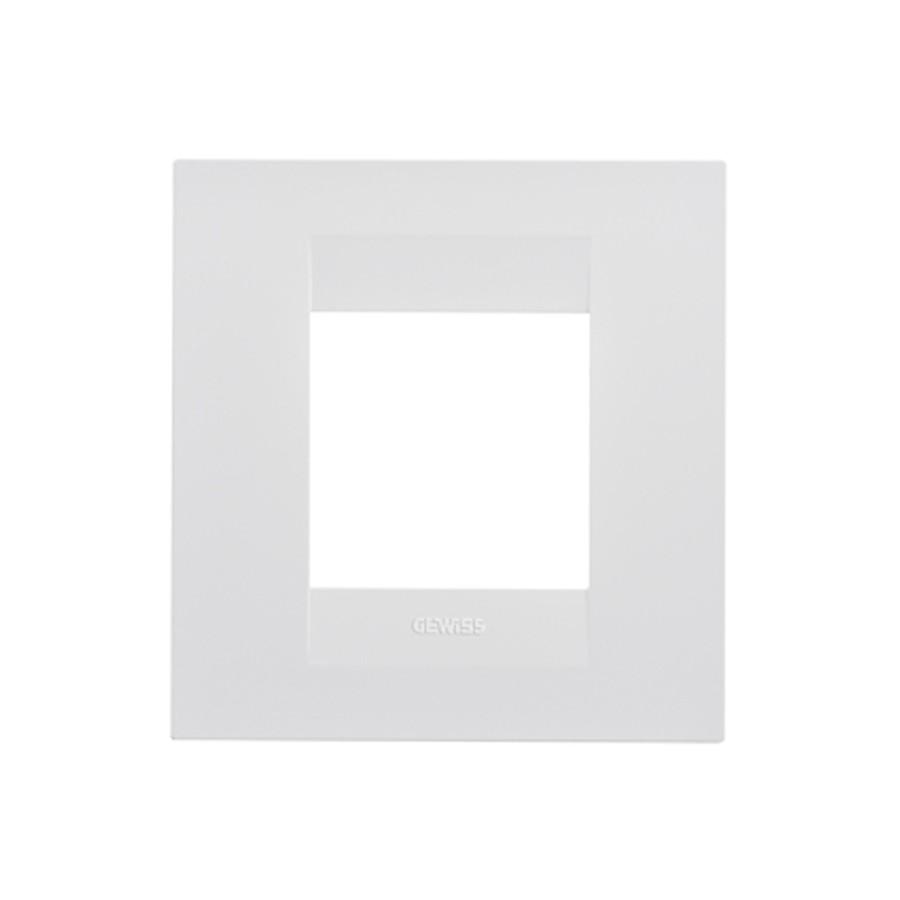 Rama orizontala Gewiss Chorus GEO International GW16422TB, 2 module, alb