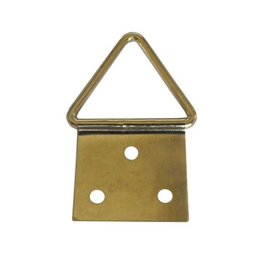 Agatatori pentru tablou, alama, zincat auriu, 32 x 16 mm, set 10 bucati
