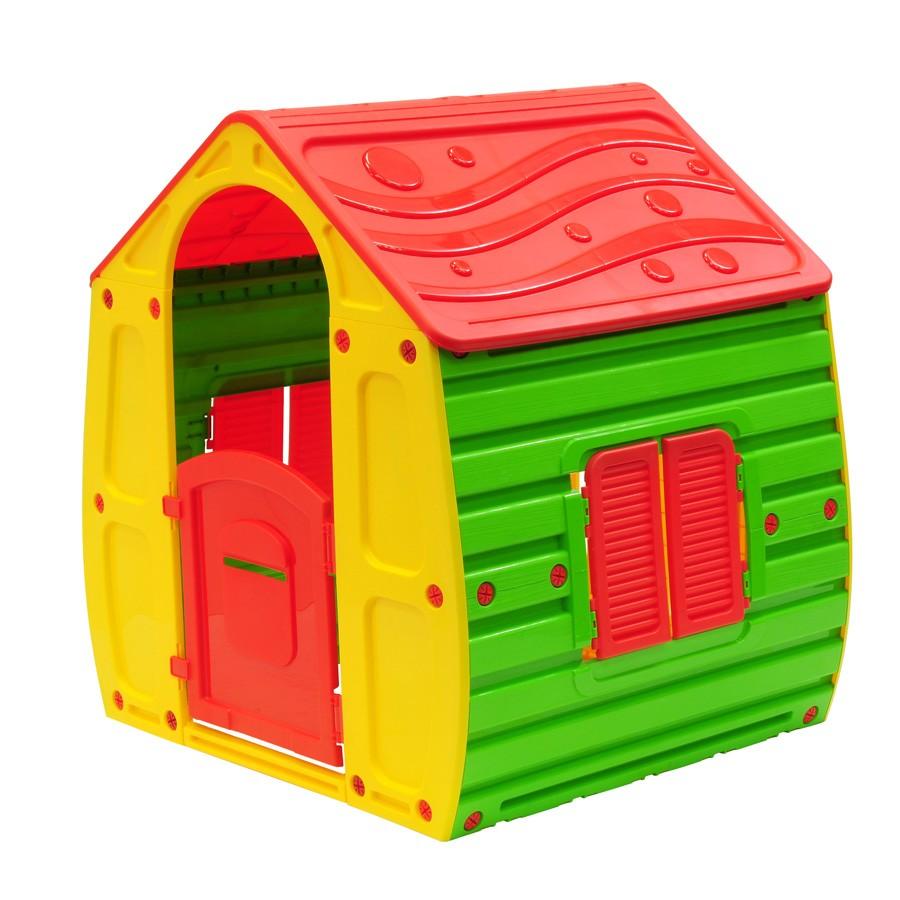 Casuta copii, pentru gradina, din plastic, 102 x 90,2 x 109 cm