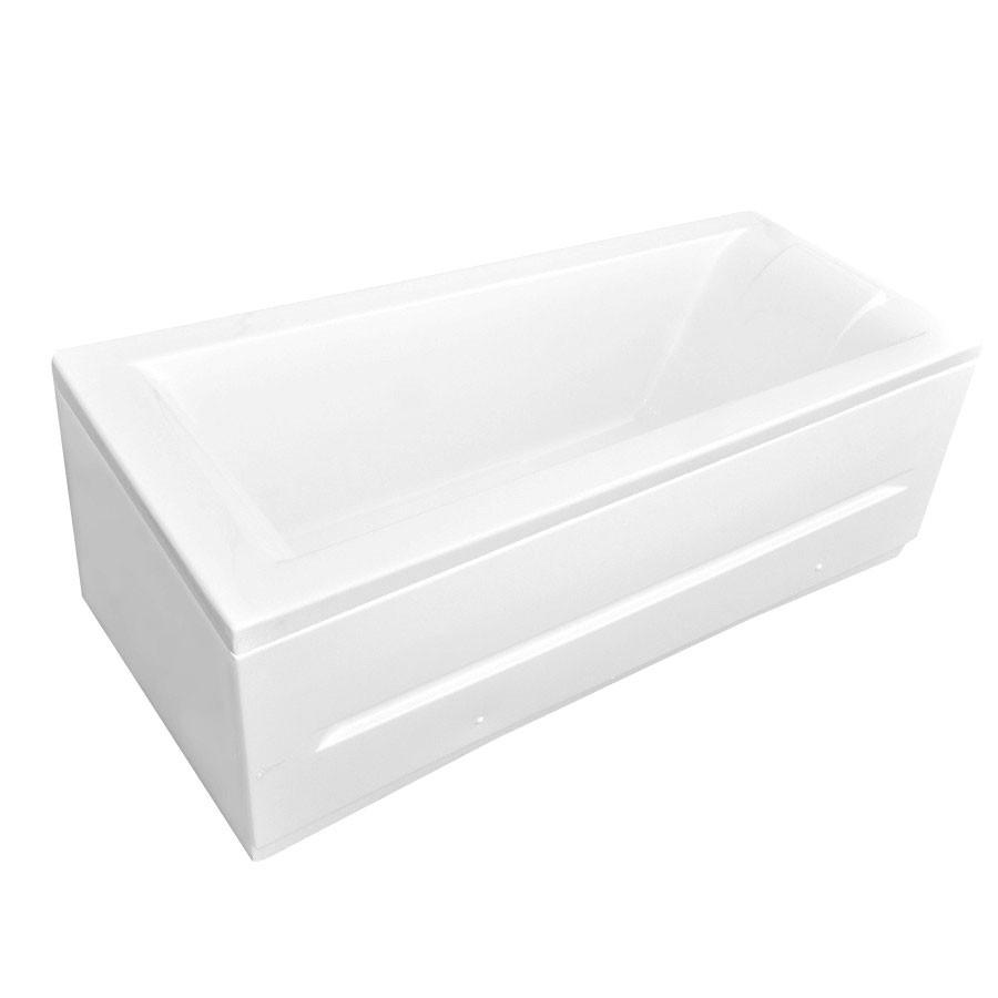 Cada baie rectangulara Martplast Viena, acril, masca frontala si suport incluse, 180 x 80 cm
