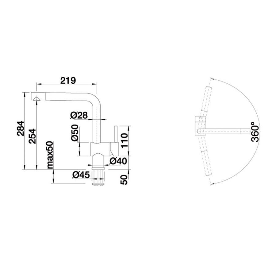 Baterie bucatarie, Blanco Linus 516705 crem, stativa, monocomanda, silgranit crem - nisip