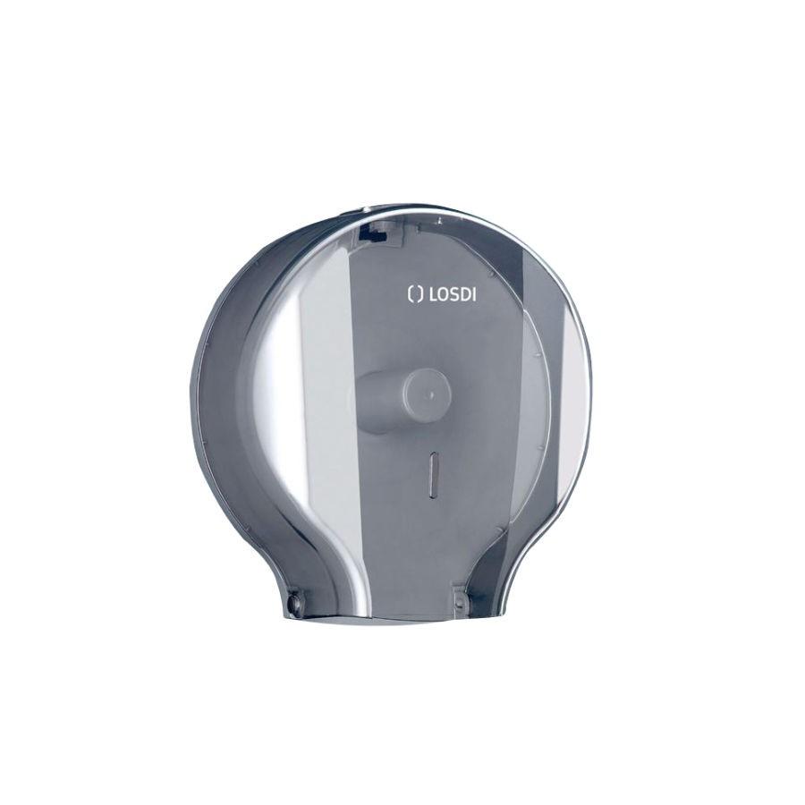 Dispenser hartie igienica Losdi, fume, plastic ABS, 29 x 26.8 x 13 cm