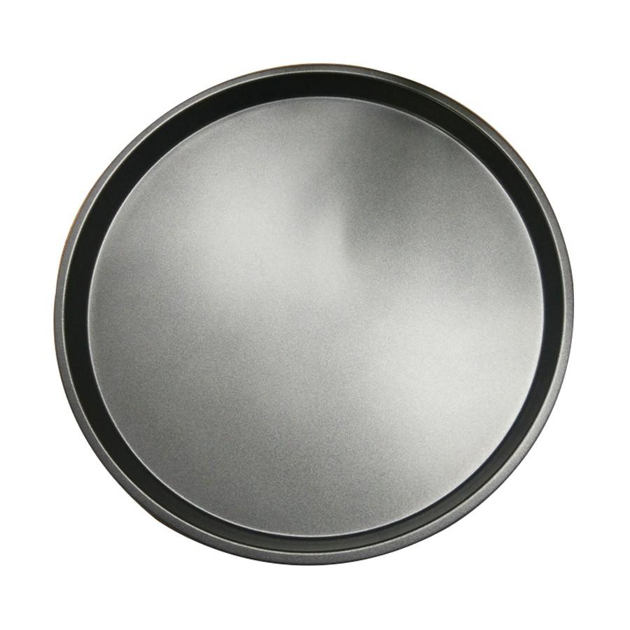 Tava rotunda pentru copt, otel carbon, anti-aderenta, gri, 35.5 x 2 cm