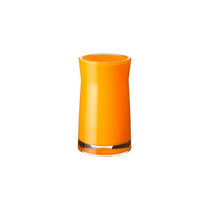 Pahar baie pentru igiena personala, Davo Pro Disco 2103104, acrilic, galben, 6.5 x 6.5 x 12.4 cm