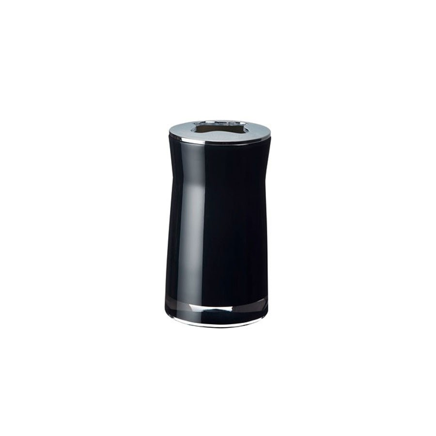 Suport periute dinti Davo Pro Disco 2103210, acrilic, negru, 6.5 x 6.5 x 12.4 cm