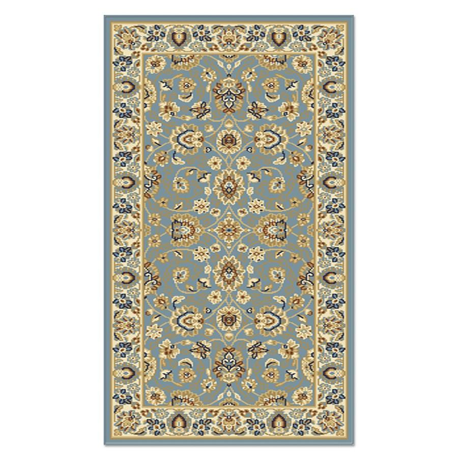 Covor living / dormitor Carpeta Atlas 81621-41266 polipropilena heat-set dreptunghiular albastru 60 x 110 cm