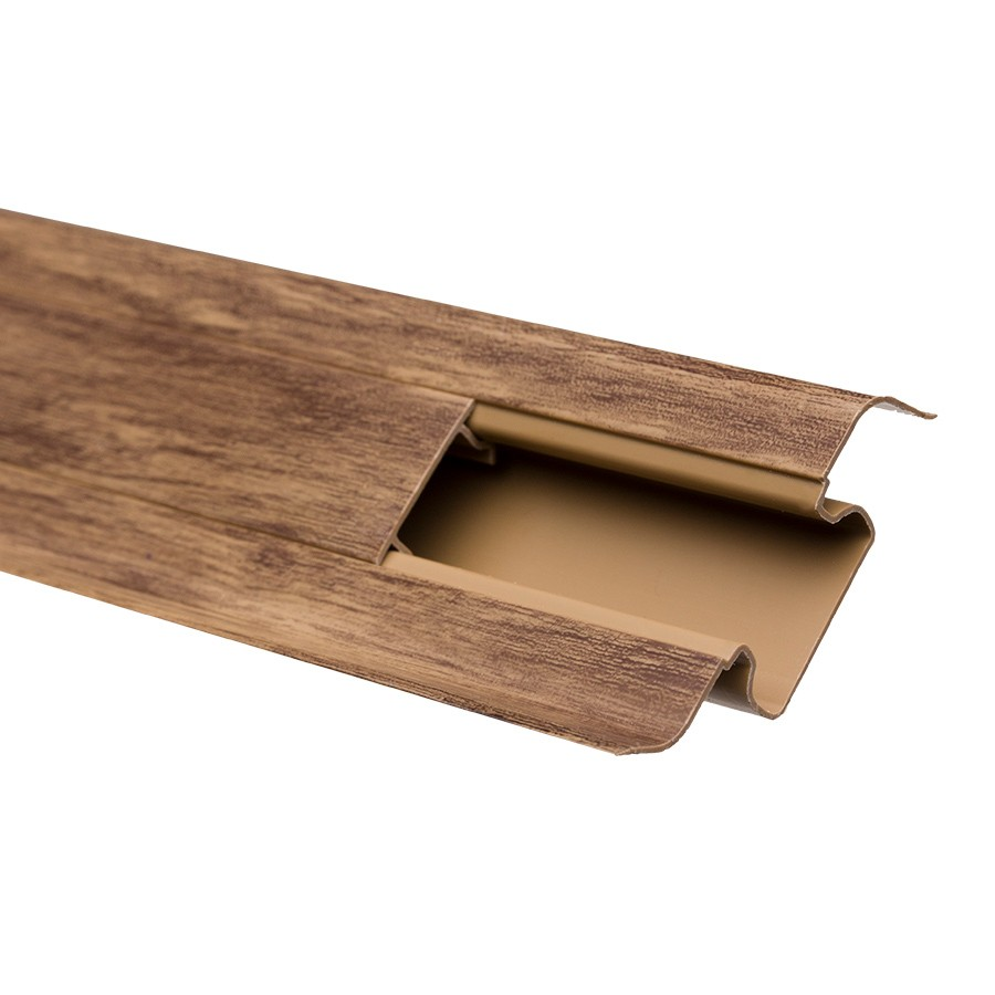Plinta parchet PVC 10456-6011 canal nuc walnut 2500 x 52 x 22 mm