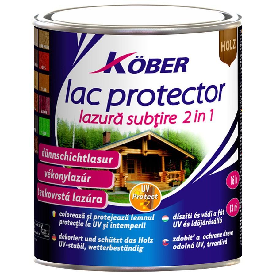 Lac pentru lemn Kober, stejar inchis, interior / exterior, 2.5 L
