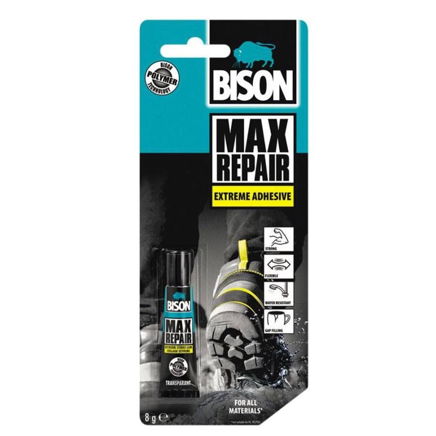 Adeziv pentru suprafete multiple, interior / exterior, Bison Max Repair, transparent, 8 gr