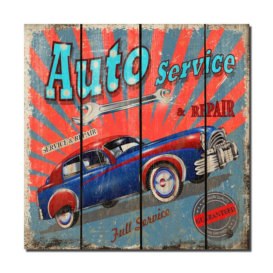 Tablou canvas TA15-PA10057, stil masina, 50 x 50 cm
