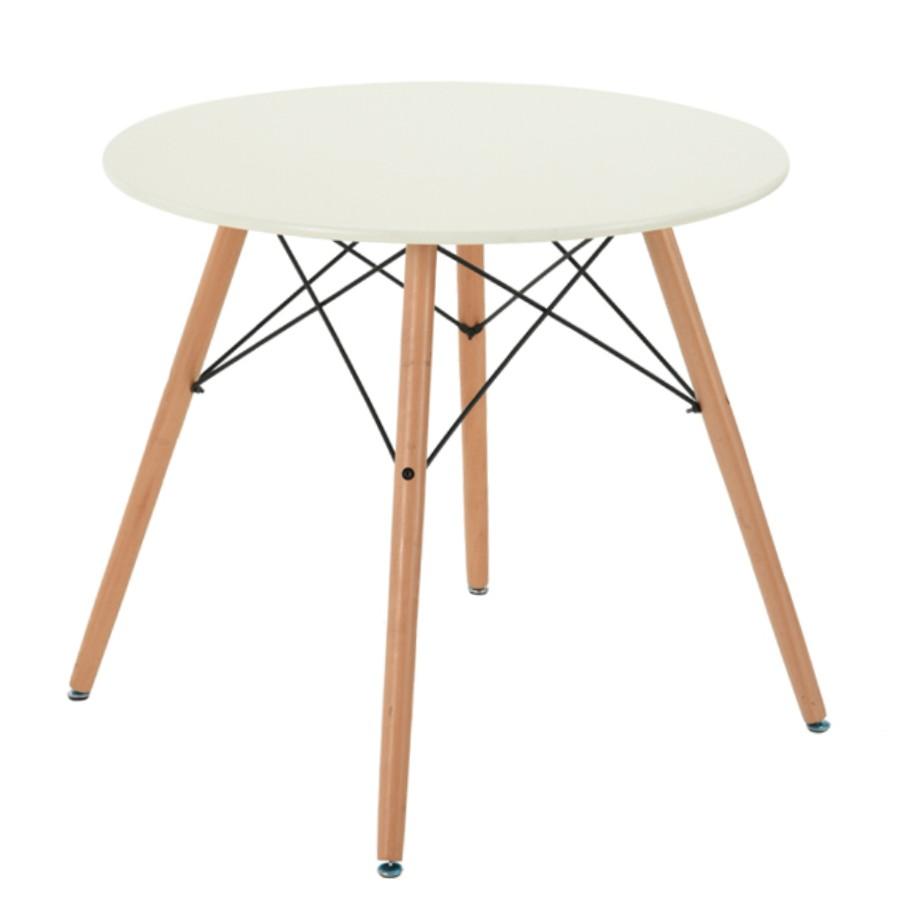 Masa bucatarie fixa Chad, rotunda, 4 persoane, bej, 80 x 71 cm, 1C