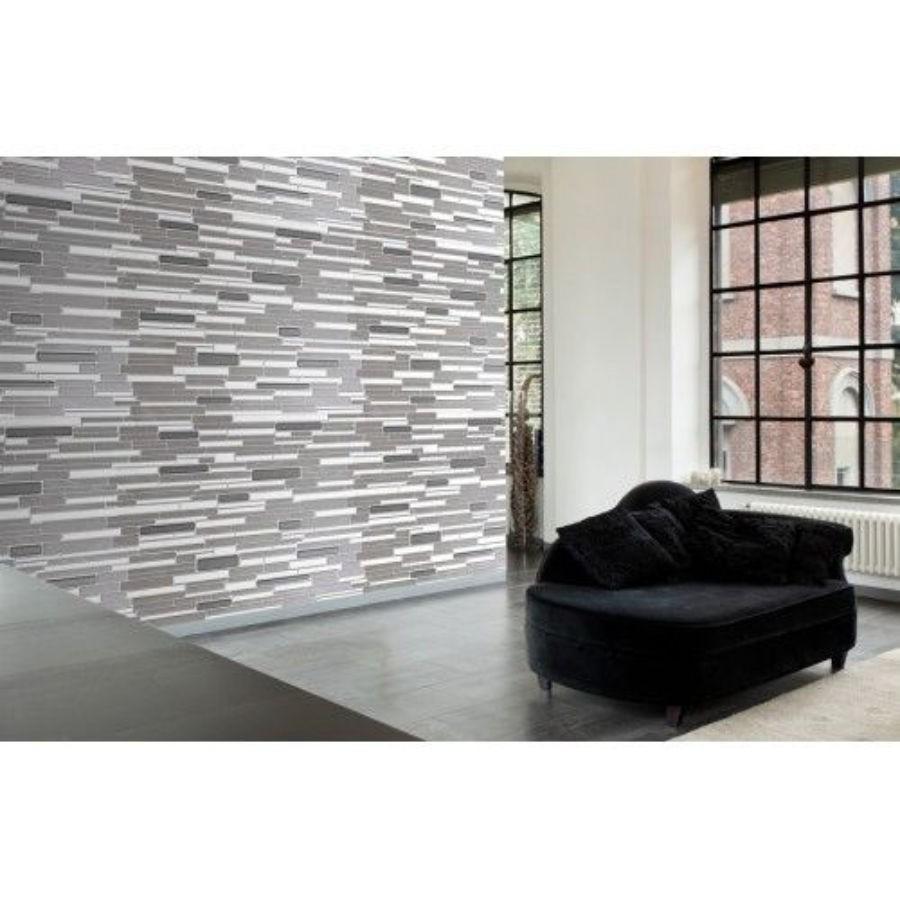 Panou decorativ Ornamental Stone Graphite, PVC, gri, 95.3 x 47.8 cm, 0.4 mm