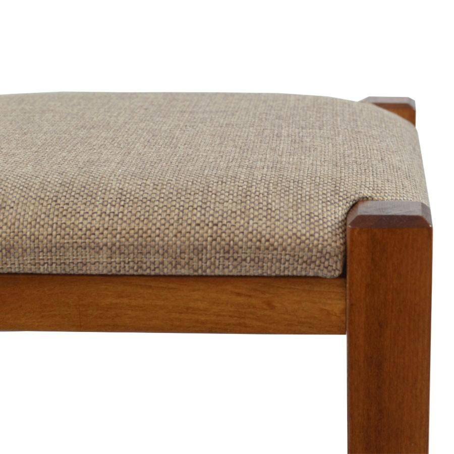 Taburet Chriss fix, patrat, material textil, maro, 30 x 30 x 45 cm