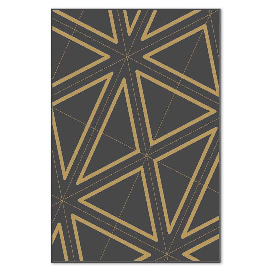 Covor living / dormitor Carpeta Soho 19481-16944 polipropilena heat-set dreptunghiular negru 200 x 300 cm