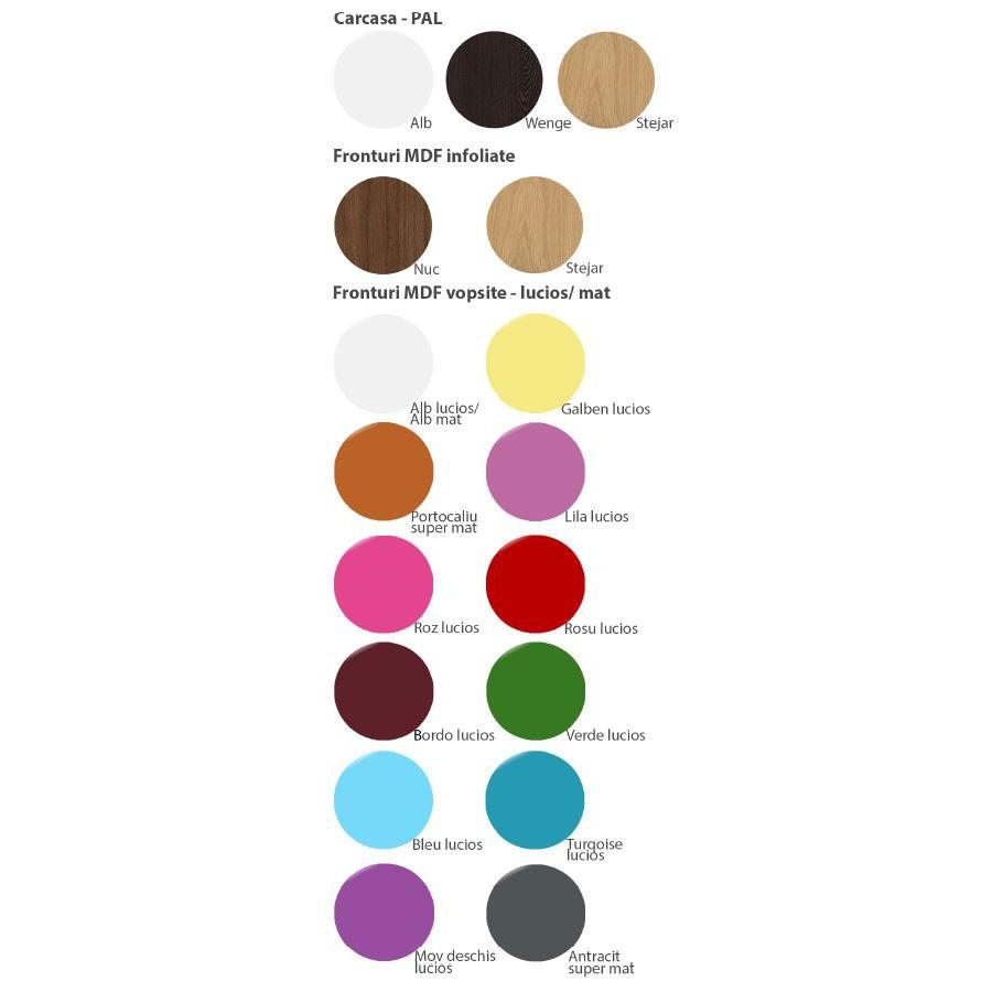 Dulap camera tineret Natalia T2, cu o usa + 2 sertare, diverse culori, 40 x 215 x 35 cm, 1C