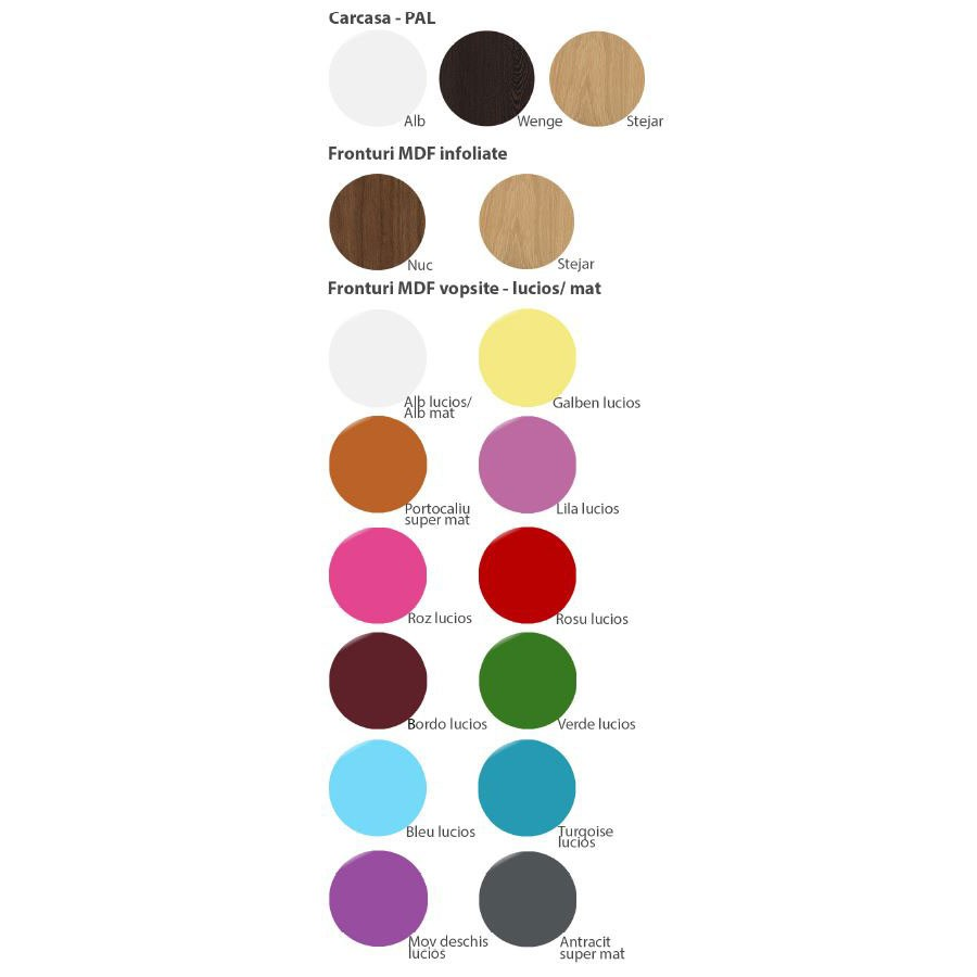 Birou camera tineret Natalia T18, diverse culori, 120 x 80 x 60 cm, 1C
