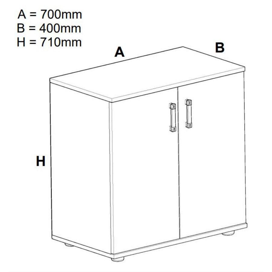 Comoda Raul, gri A480 + sonoma dark, 70 x 71 x 40 cm, 2C