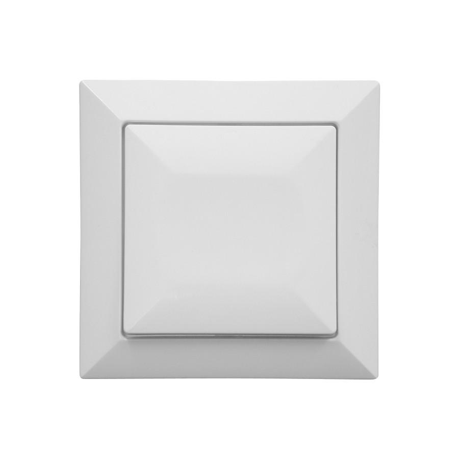 Intrerupator cap scara simplu Abex Perla WP-5 P, incastrat, alb