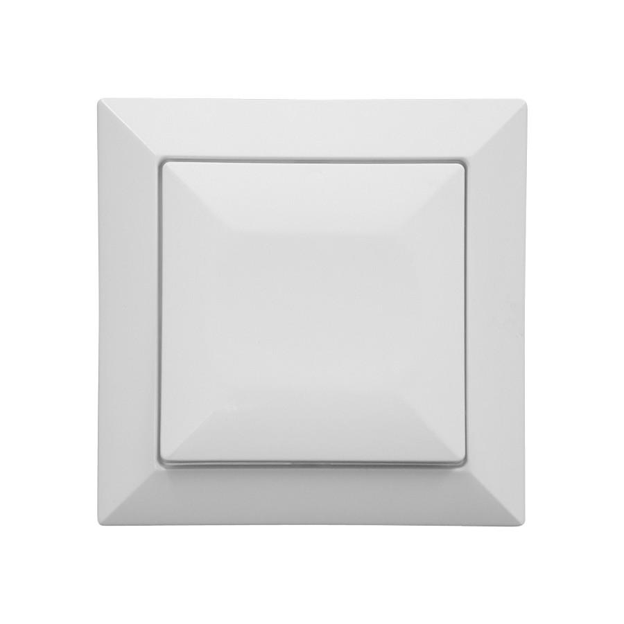 Intrerupator cap cruce Abex Perla WP-8P, incastrat, alb