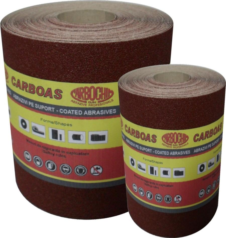 Rola panza abraziva pentru lemn, metale, constructii, Carbochim PESK, granulatie 180, rola 5 m x 120 mm