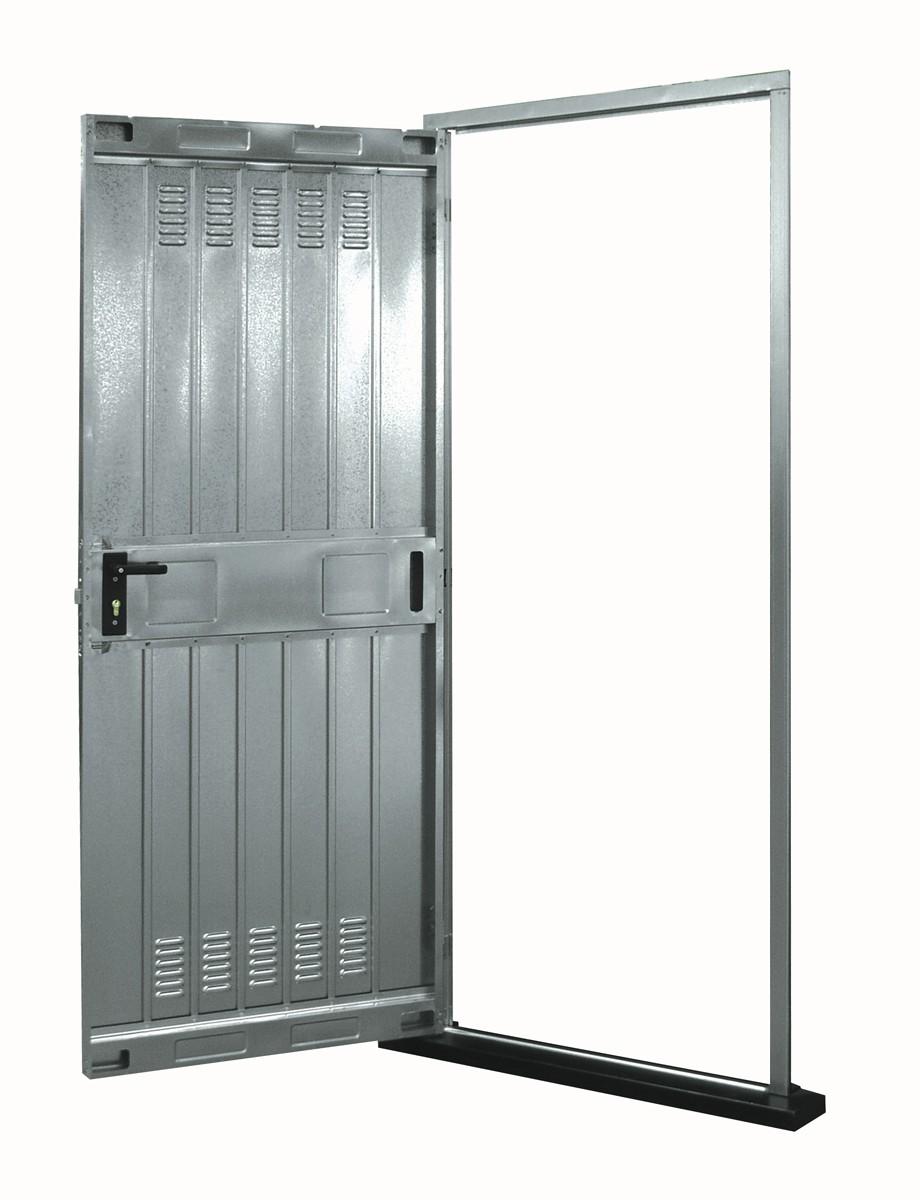 Usa industriala metalica de exterior, zincata, Zilco, monolamelara, 80 x 200 cm