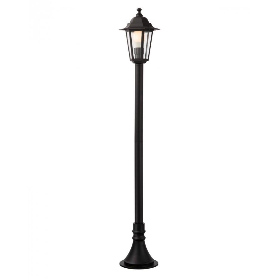 Stalp de iluminat ornamental London 6110N, 1 x E27, 100 cm, negru