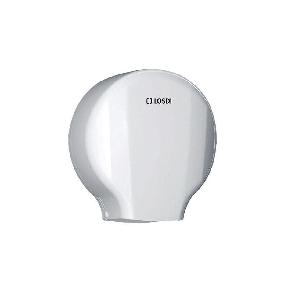 Dispenser hartie igienica Losdi, alb, plastic ABS, 29 x 26.8 x 13 cm