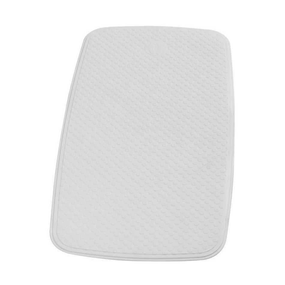 Covoras baie cu ventuze Capri 66081, alb, 38 x 72 cm