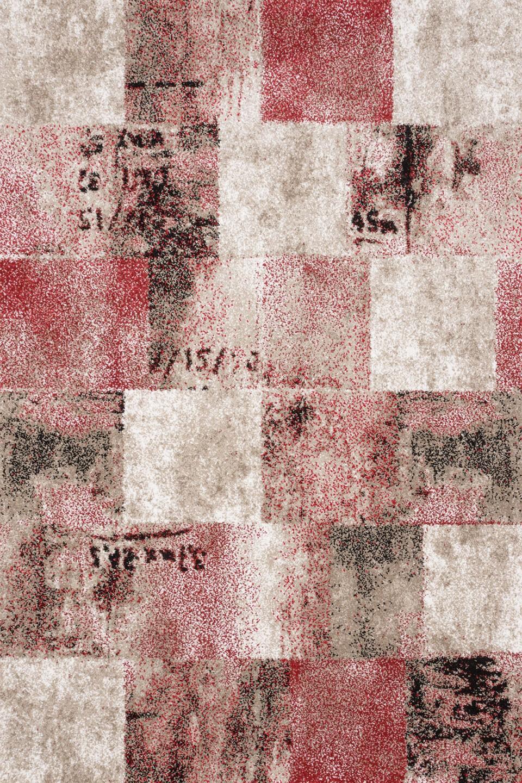 Covor living / dormitor Sintelon Vegas 01 ECC polipropilena dreptunghiular rosu 80 x 150 cm